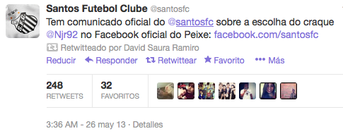 Twitter-Santos